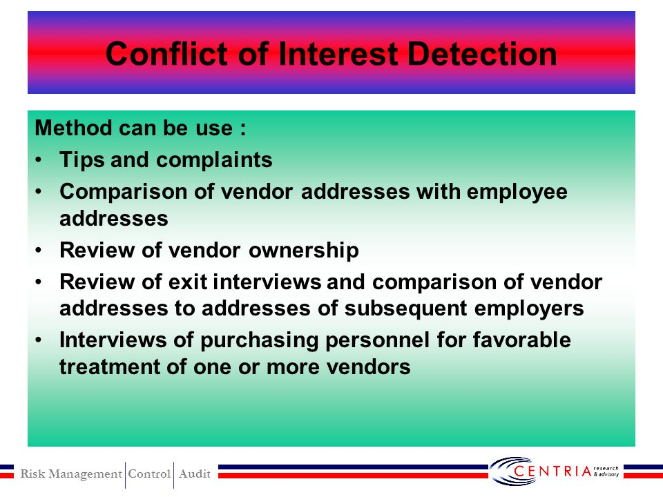 Conflict of Interest Detection