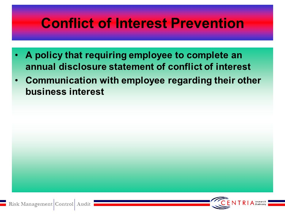 Conflict of Interest Prevention