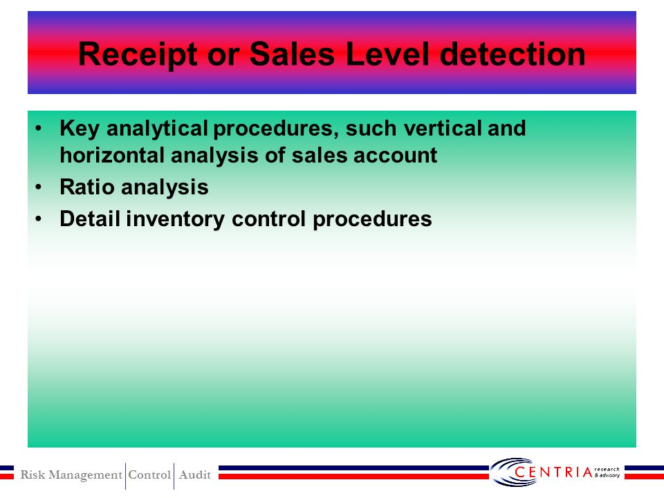 Receipt or Sales Level detection