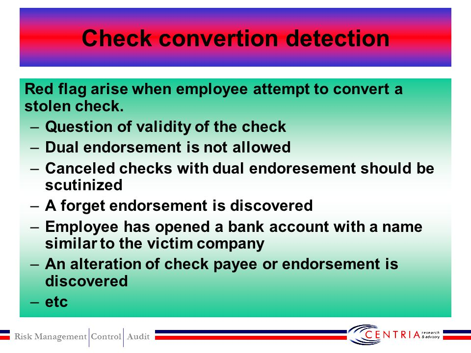 Check convertion detection