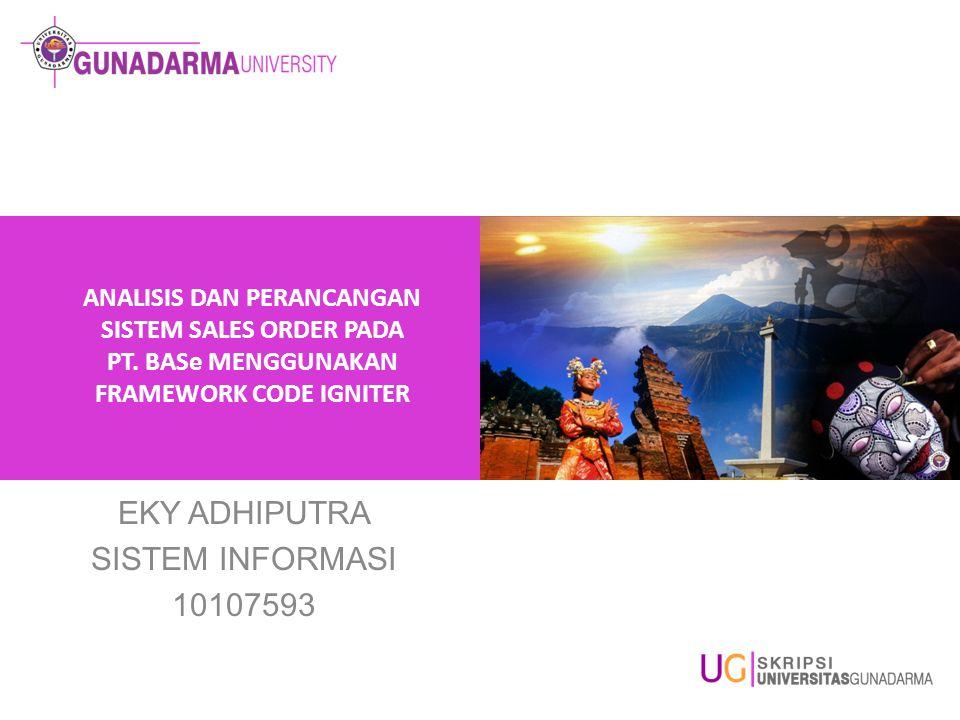 EKY ADHIPUTRA SISTEM INFORMASI 10107593