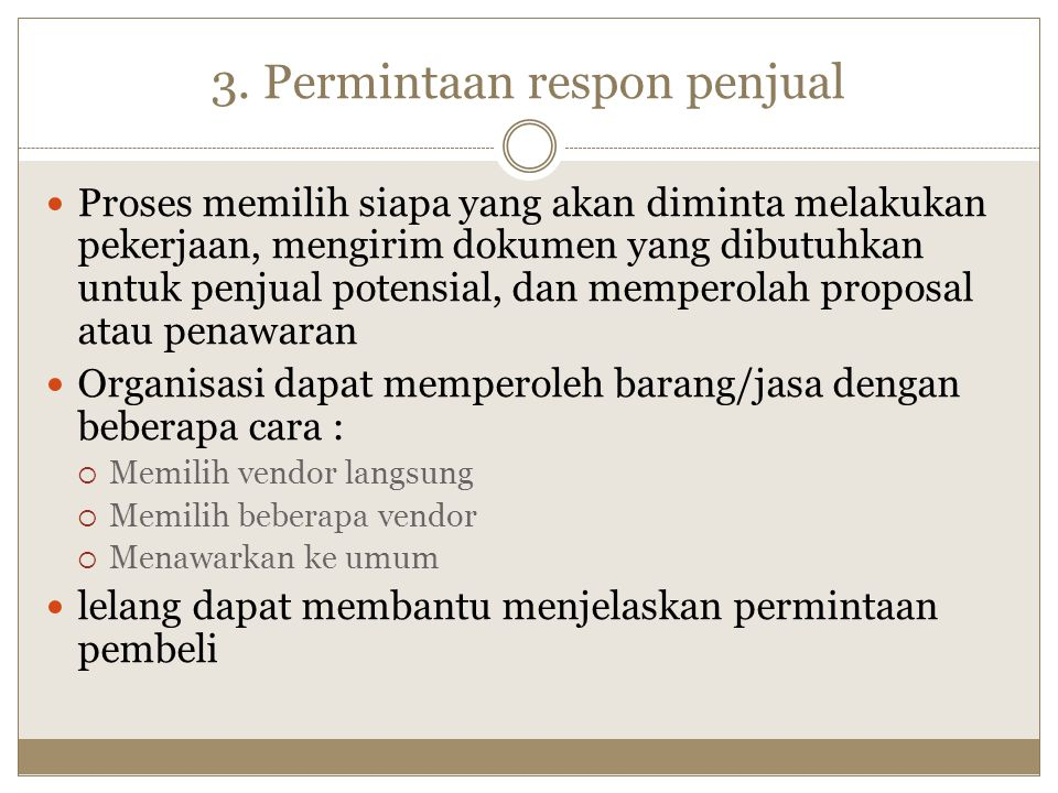 3. Permintaan respon penjual