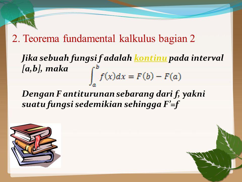 2. Teorema fundamental kalkulus bagian 2