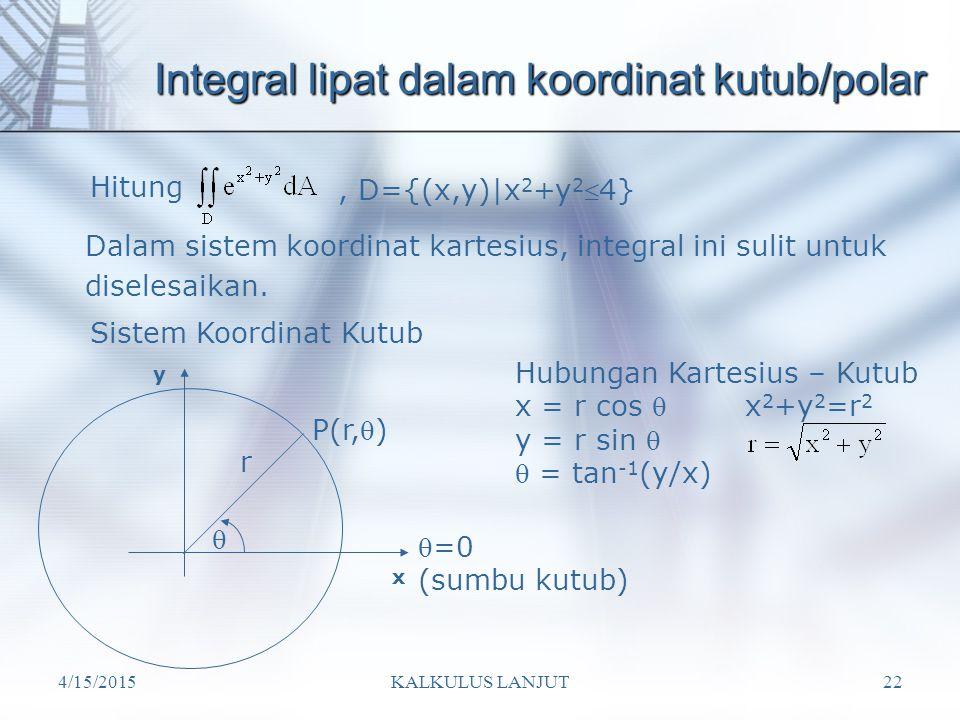 Integral lipat dalam koordinat kutub/polar