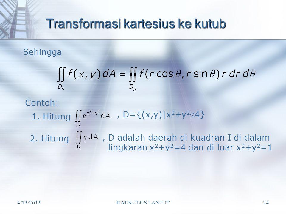 Transformasi kartesius ke kutub