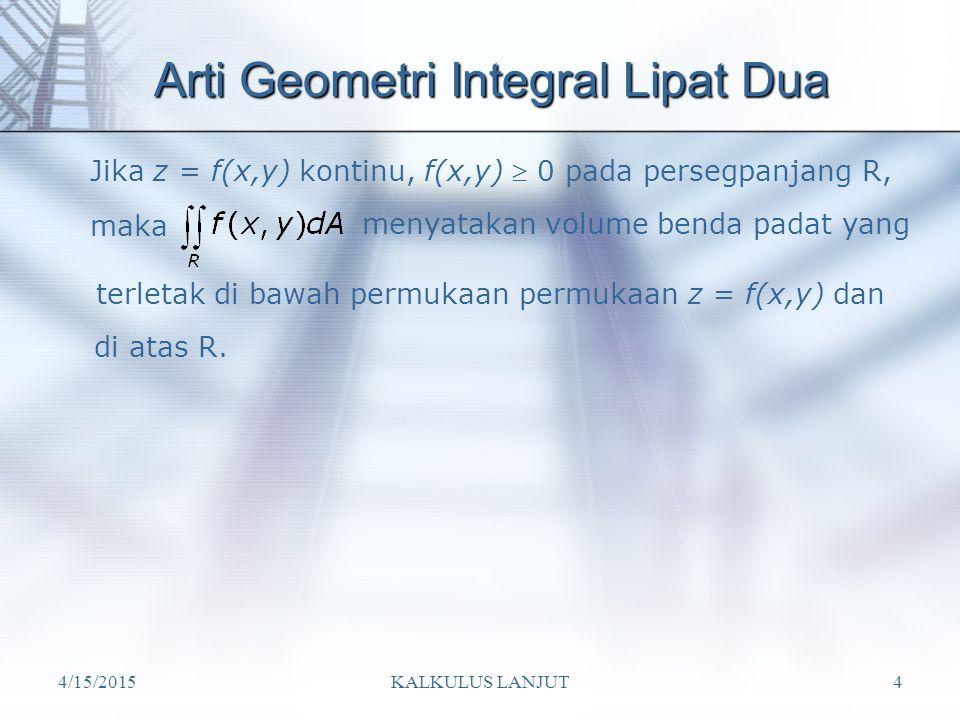 Arti Geometri Integral Lipat Dua