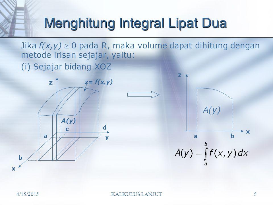 Menghitung Integral Lipat Dua