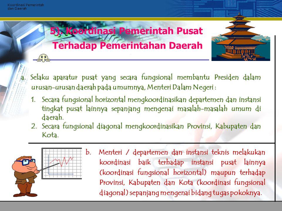 Koordinasi Pemerintah dan Daerah