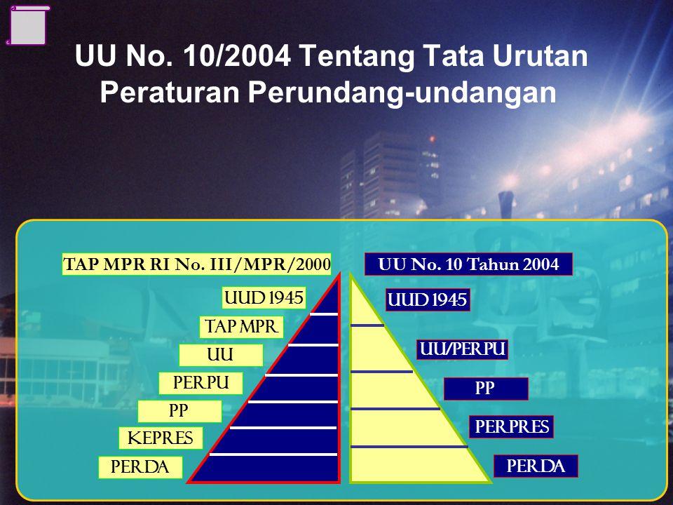 UU No. 10/2004 Tentang Tata Urutan Peraturan Perundang-undangan
