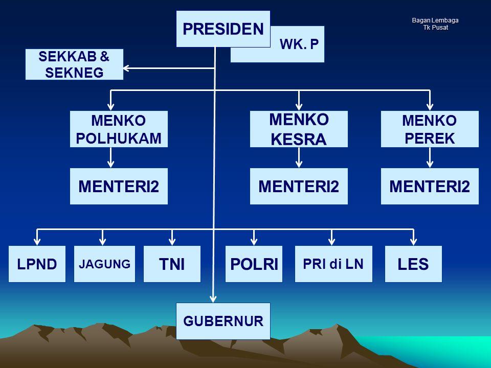 PRESIDEN MENKO KESRA MENTERI2 MENTERI2 MENTERI2 TNI POLRI LES