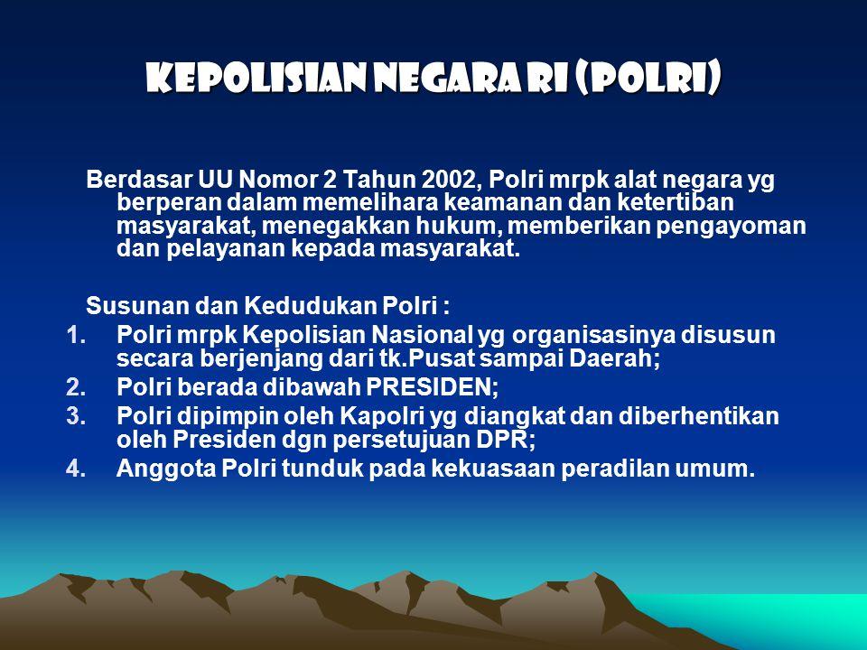 KEPOLISIAN NEGARA RI (POLRI)