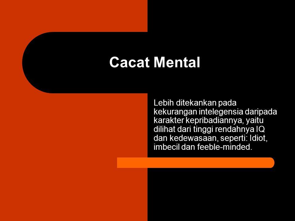 Cacat Mental