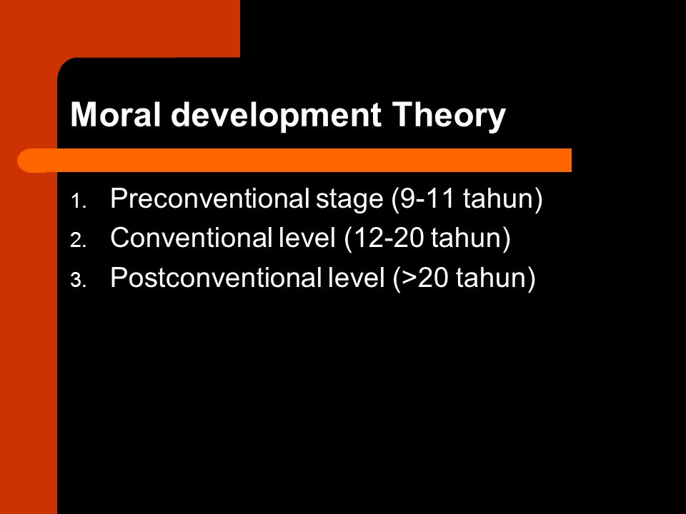 Moral development Theory