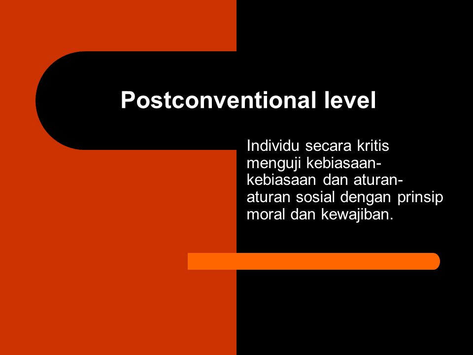 Postconventional level
