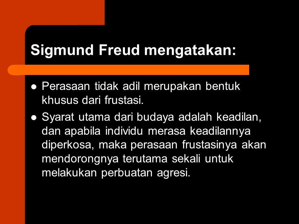 Sigmund Freud mengatakan: