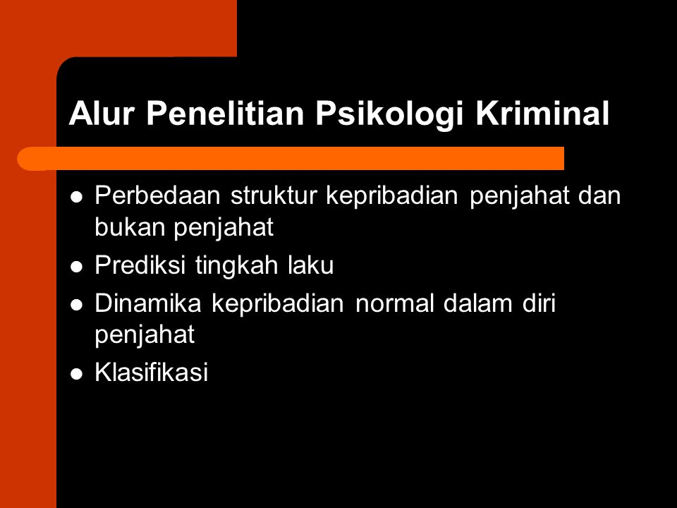 Alur Penelitian Psikologi Kriminal