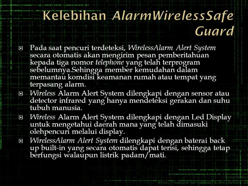 Kelebihan AlarmWirelessSafe Guard