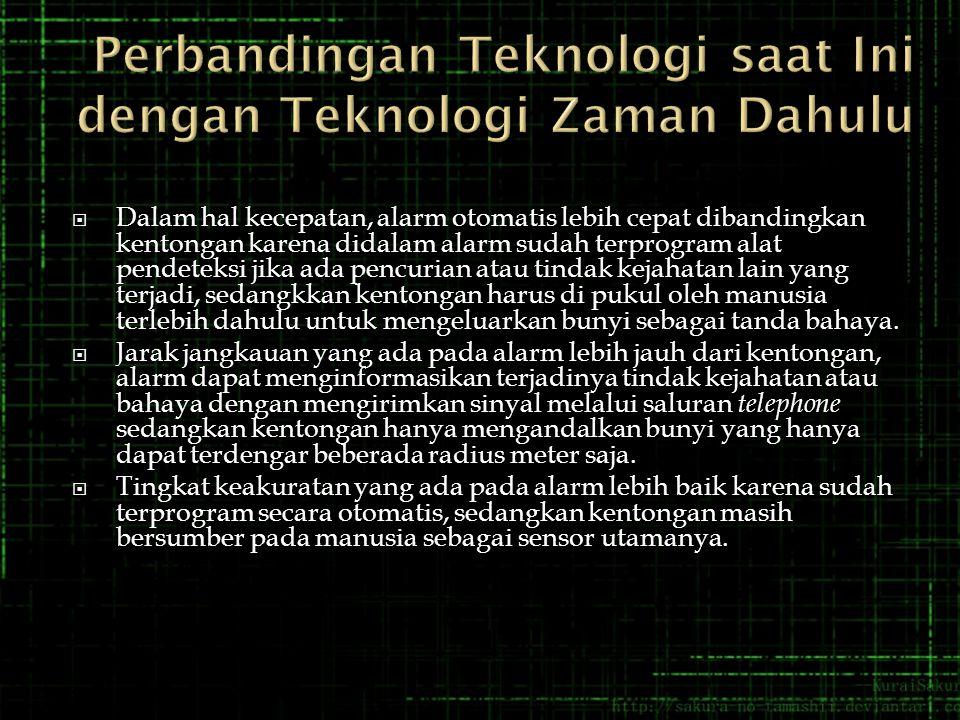 Perbandingan Teknologi saat Ini dengan Teknologi Zaman Dahulu