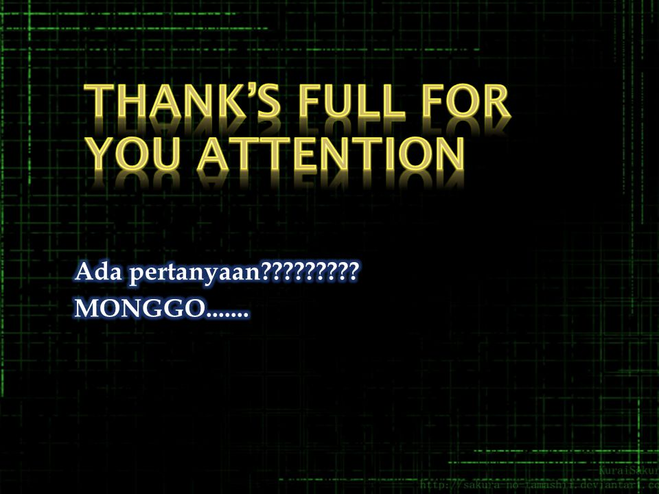 Thank's full for you attention