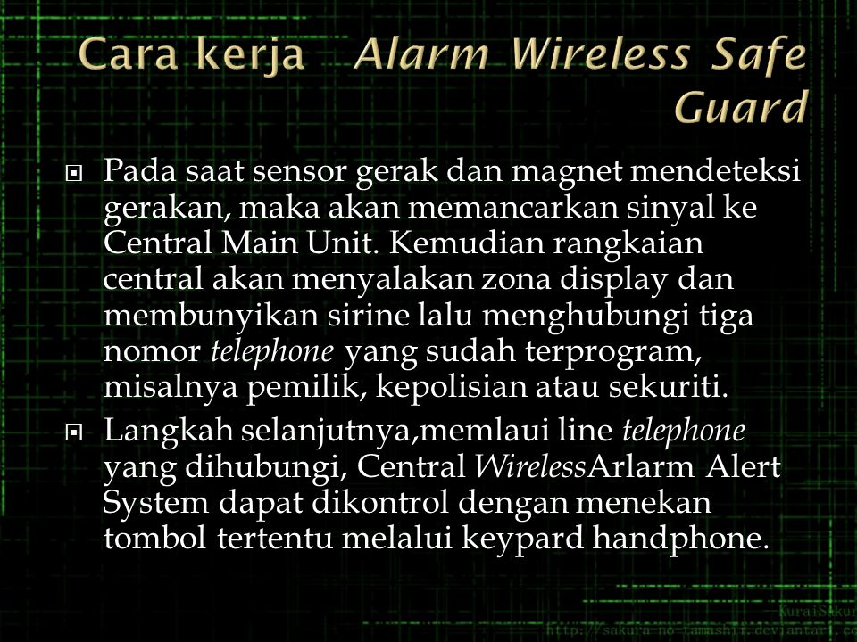 Cara kerja Alarm Wireless Safe Guard
