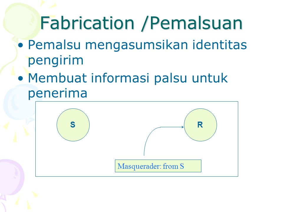 Fabrication /Pemalsuan
