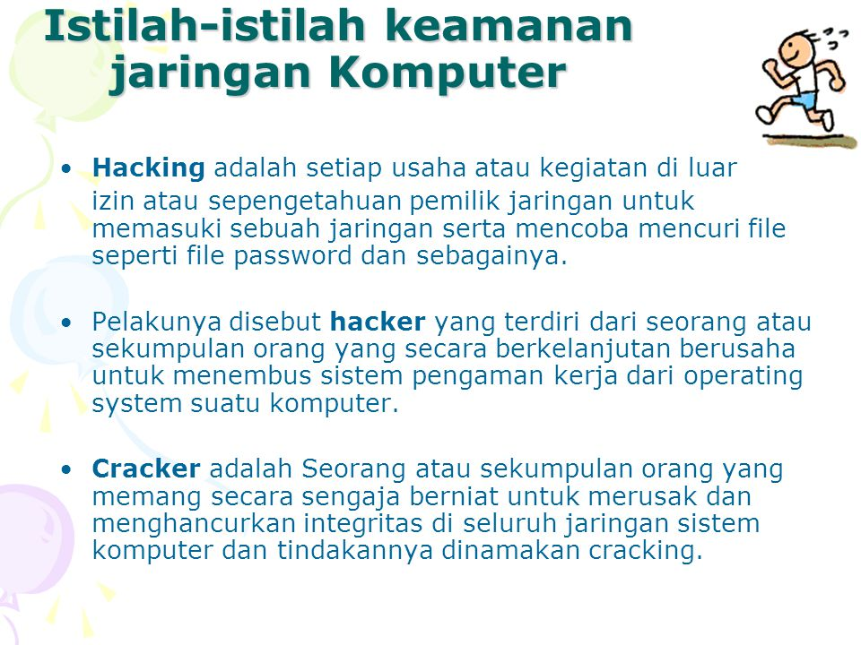 Istilah-istilah keamanan jaringan Komputer