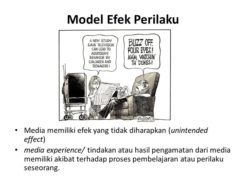 Model Efek Perilaku Media memiliki efek yang tidak diharapkan (unintended effect)