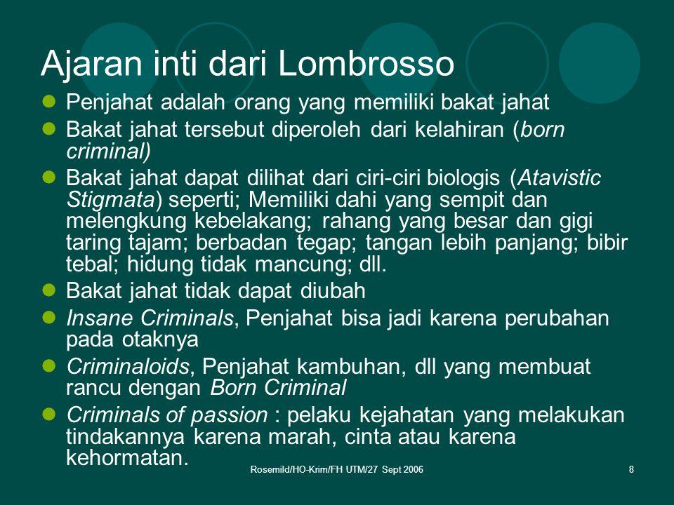 Ajaran inti dari Lombrosso