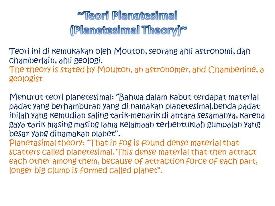 (Planetesimal Theory)~