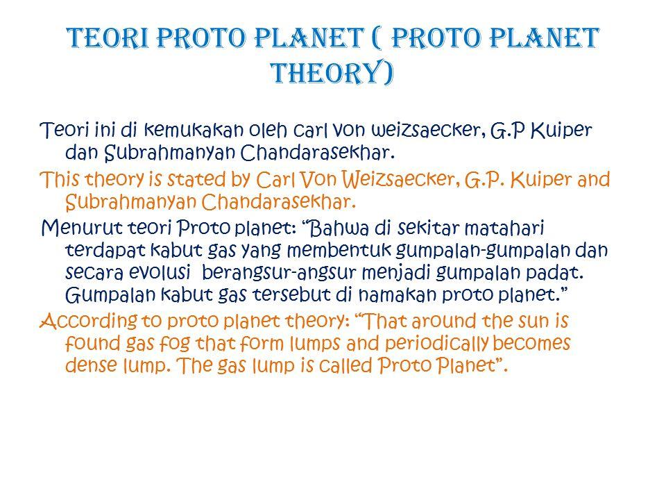 Teori Proto Planet ( Proto Planet Theory)