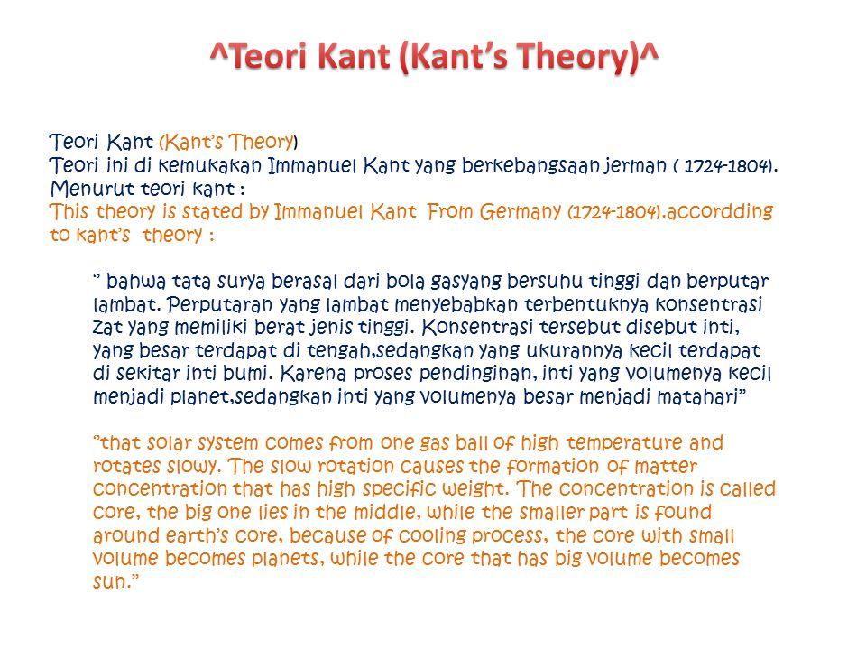 ^Teori Kant (Kant's Theory)^