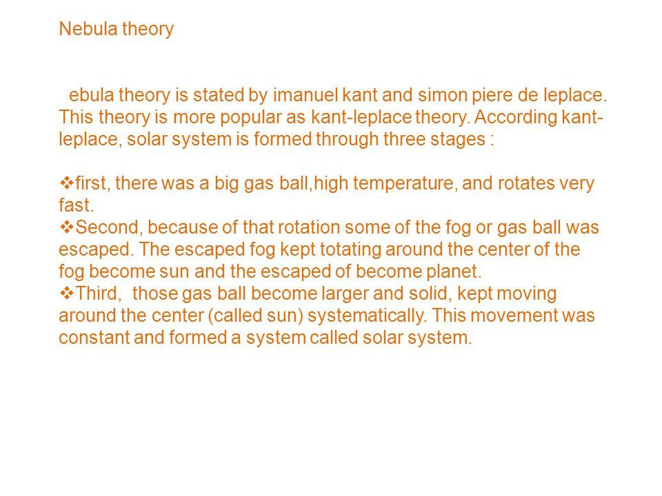 Nebula theory