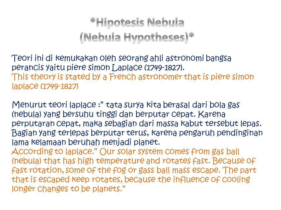 *Hipotesis Nebula (Nebula Hypotheses)*