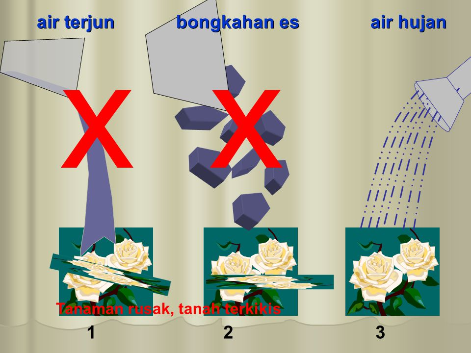 x air terjun bongkahan es air hujan 1 2 3