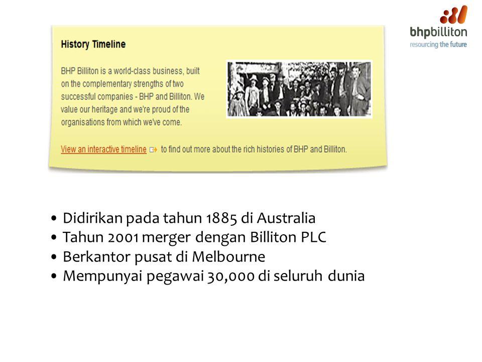 Didirikan pada tahun 1885 di Australia