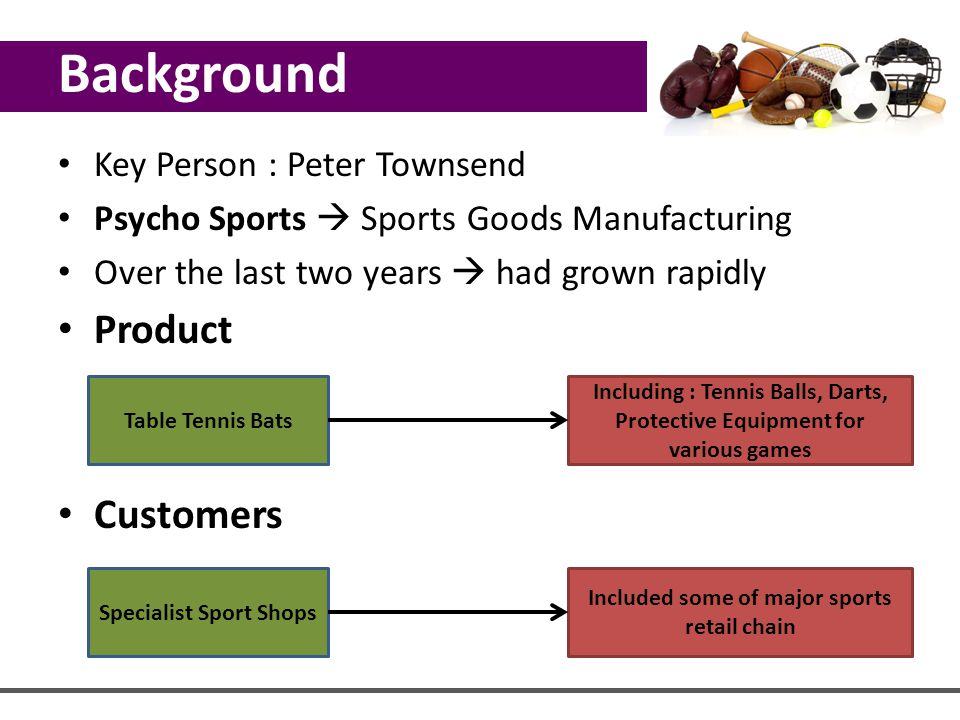 Specialist Sport Shops Included some of major sports retail chain