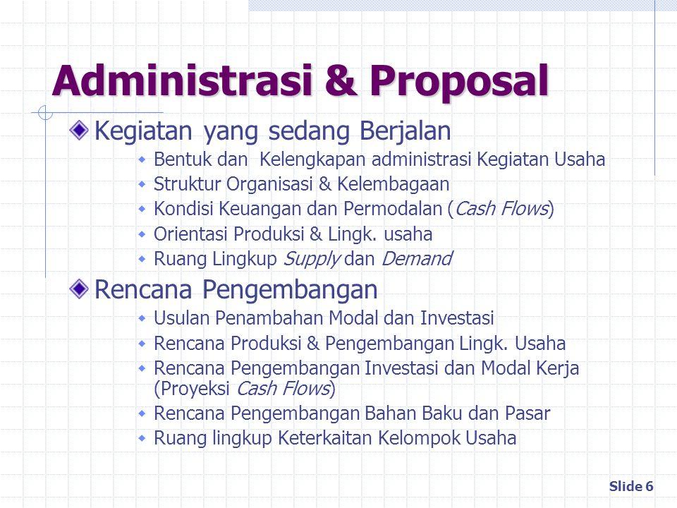 Administrasi & Proposal