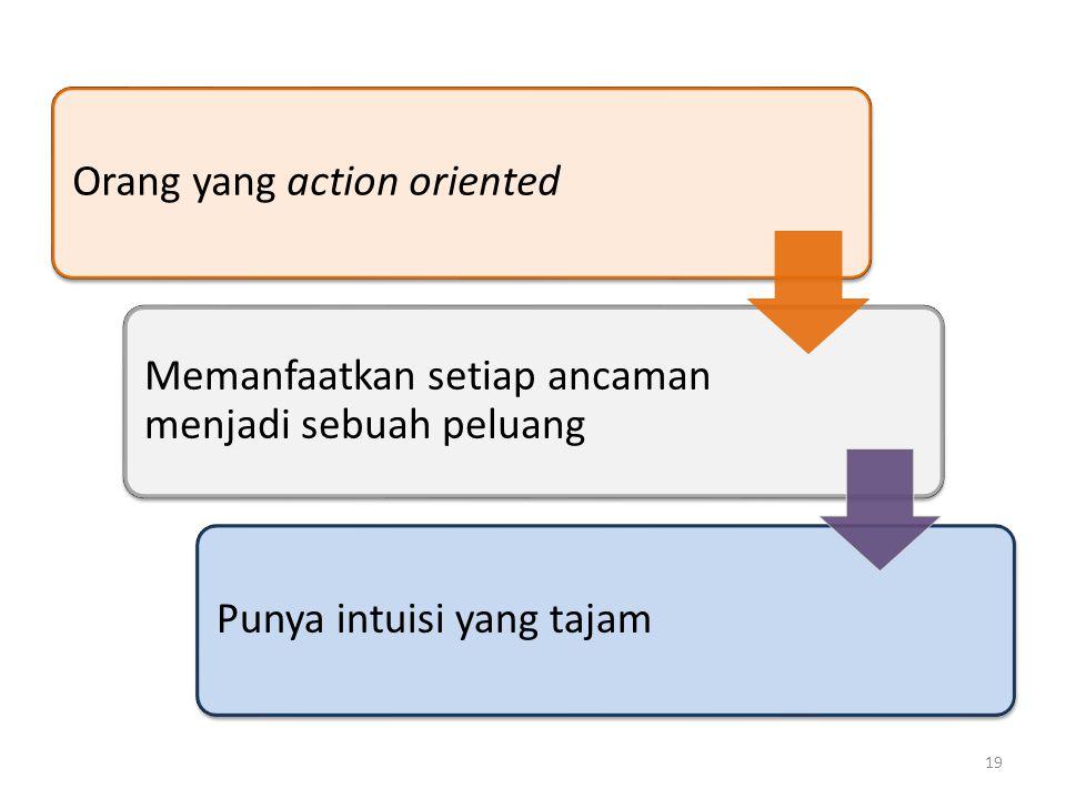 Orang yang action oriented