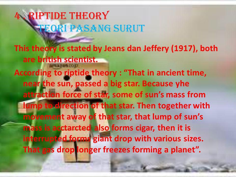 4 . Riptide Theory Teori pasang surut