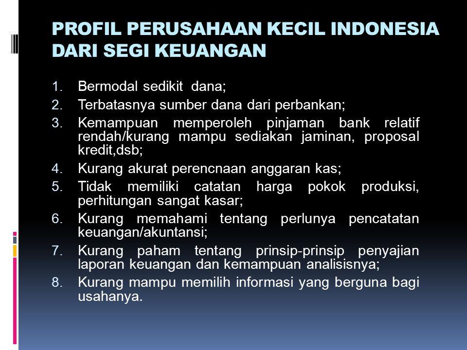 PROFIL PERUSAHAAN KECIL INDONESIA DARI SEGI KEUANGAN