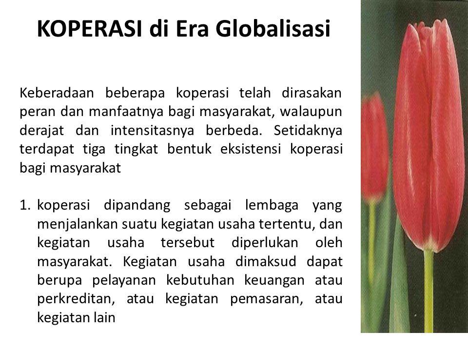 KOPERASI di Era Globalisasi