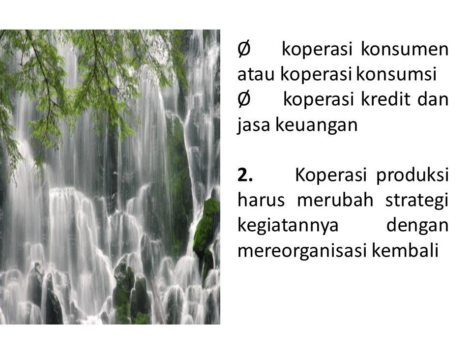 Ø koperasi konsumen atau koperasi konsumsi