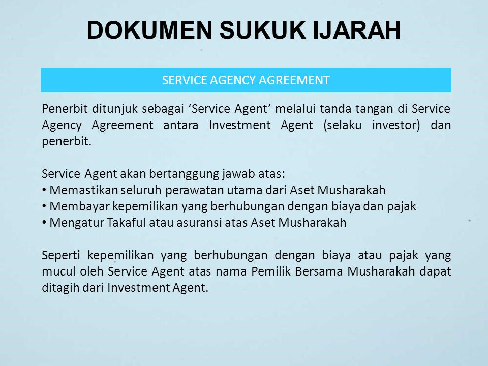 SERVICE AGENCY AGREEMENT