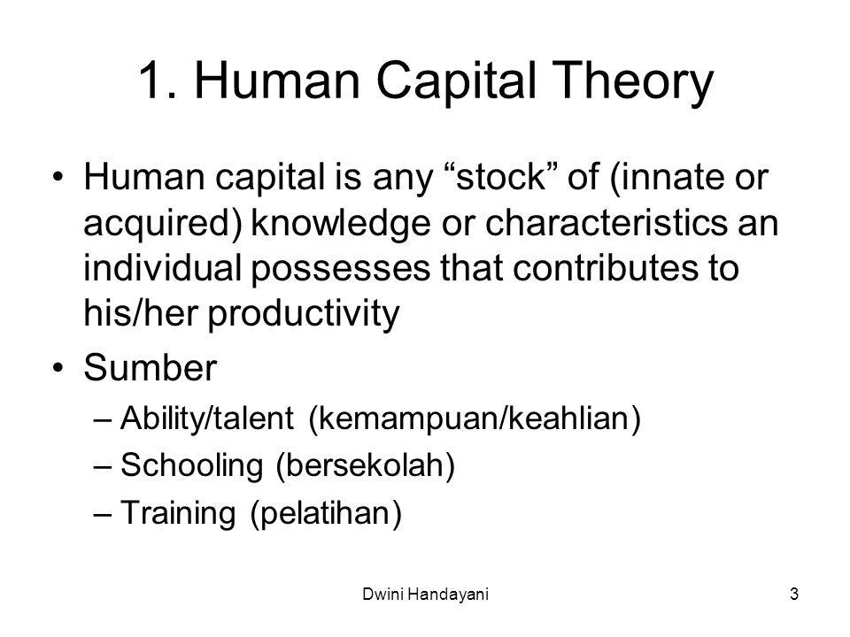 1. Human Capital Theory