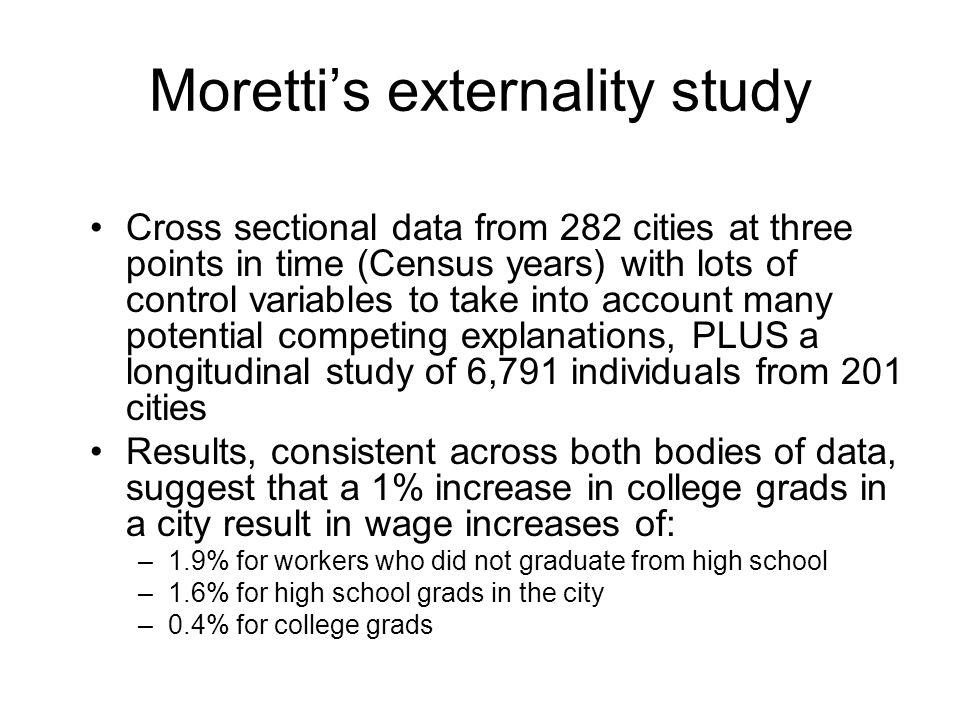 Moretti's externality study