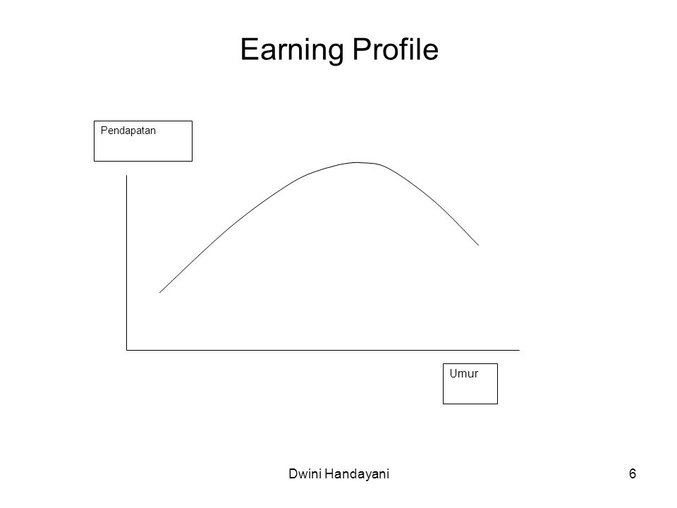 Earning Profile Umur Pendapatan Dwini Handayani