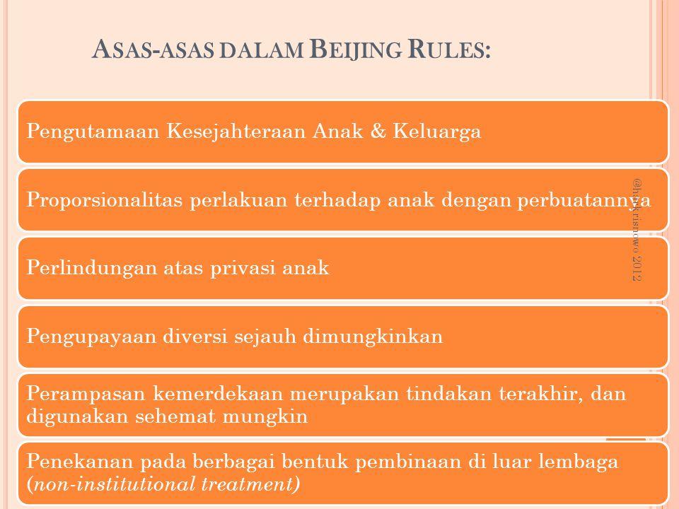 Asas-asas dalam Beijing Rules: