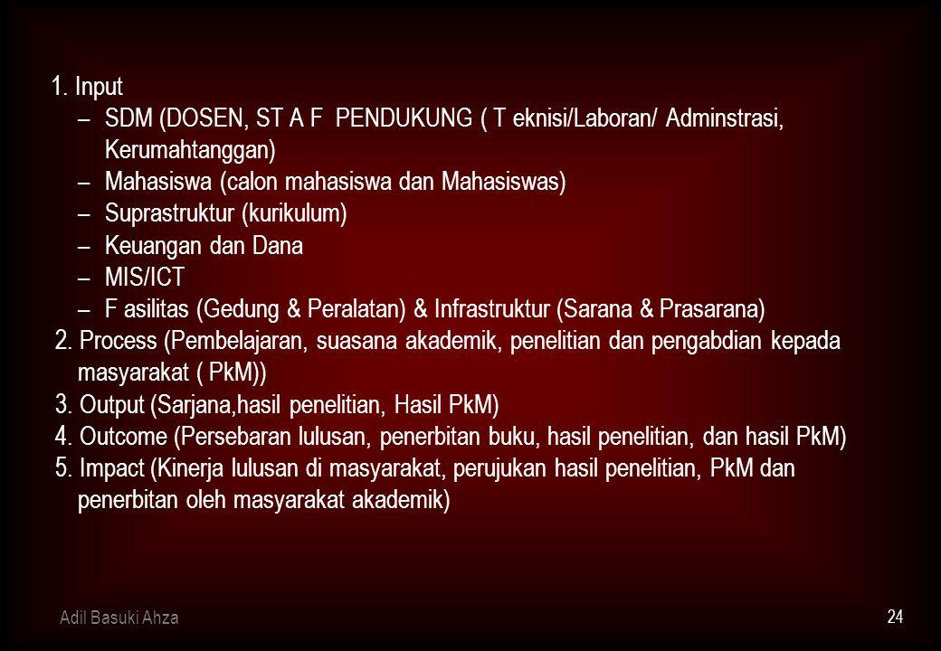 Mahasiswa (calon mahasiswa dan Mahasiswas) Suprastruktur (kurikulum)