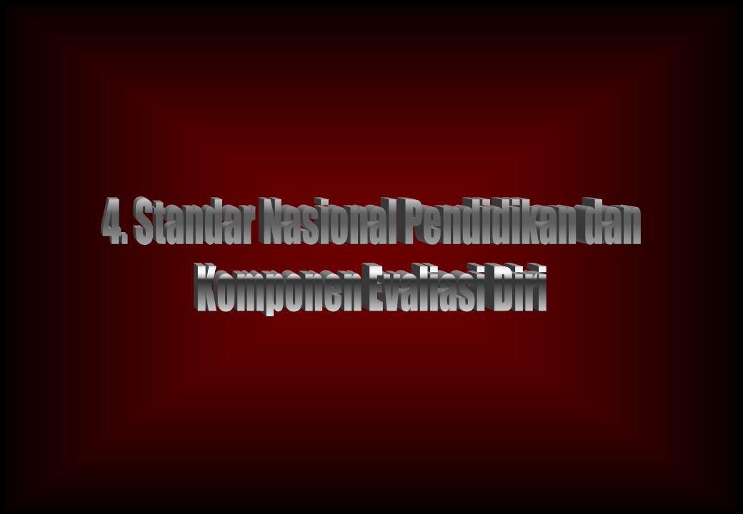 4. Standar Nasional Pendidikan dan Komponen Evaliasi Diri
