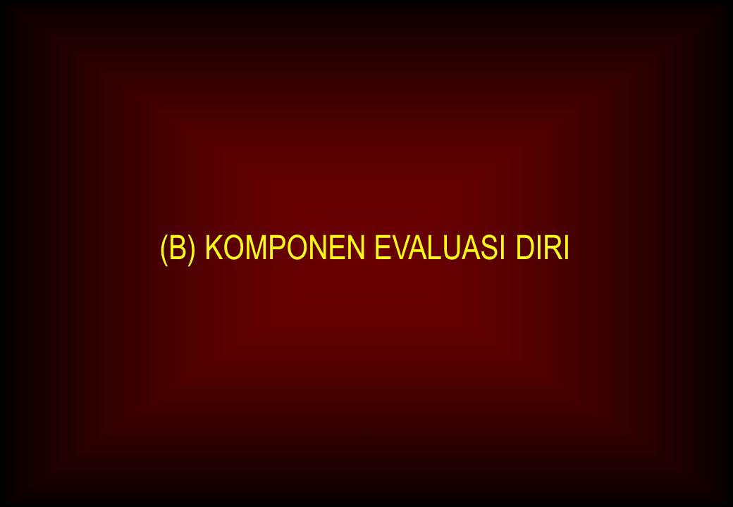 (B) KOMPONEN EVALUASI DIRI